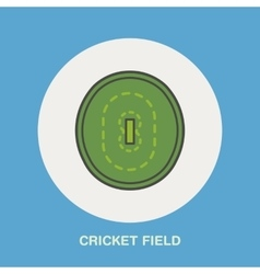 Cricket line icon Field sign Sport vector image