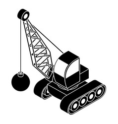 Demolish truck icon simple style vector