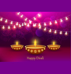diwali concept background realistic style vector image