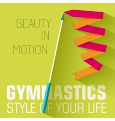 Flat sport gymnastics background concept de vector