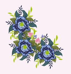 Flowers bouquet bloom leaves nature botancial vector