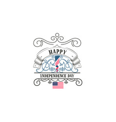 fourth july united stated independence day vector image