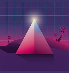 futuristic and retrowave design vector image