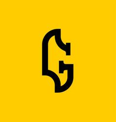 G letter old russian font national folk alphabet vector