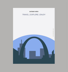Gateway arch st louis usa vintage style landmark vector