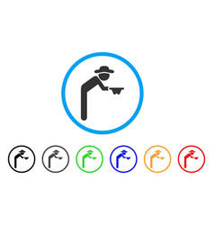 gentleman beggar rounded icon vector image