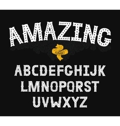 Hand Drawn Alphabet with Vintage letters vector image