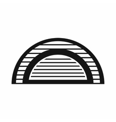 Hangar icon simple style vector