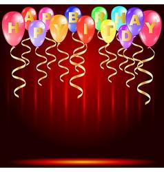 Happy birthday party card vector