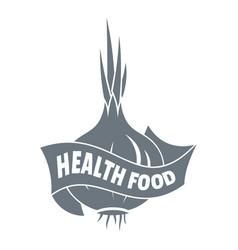 health eco food logo simple style vector image