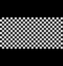 horizontal checkered or racing flag race vector image