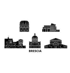Italy brescia flat travel skyline set italy vector