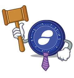 Judge status coin mascot cartoon vector