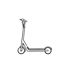 Kick scooter hand drawn sketch icon vector
