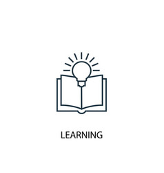 learning concept line icon simple element vector image