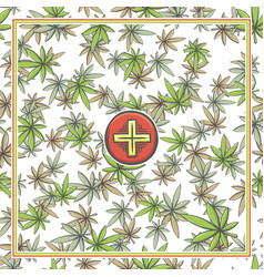 Marijuana medical banner one vector