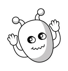 Martian character comic icon vector