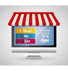 Multimedia mobile applications vector