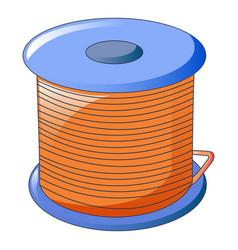 Orange cable coil icon cartoon style vector