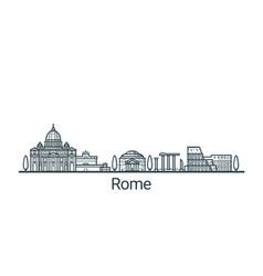 outline rome banner vector image