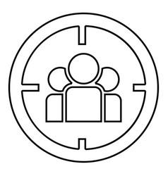People in target or target audience icon black vector