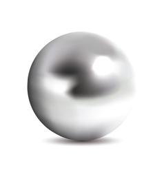 Photorealistic chrome ball vector