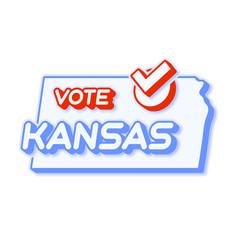 Presidential vote in kansas usa 2020 state map vector
