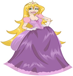 Princess Rapunzel In Pink Dress vector