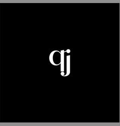 Q j letter logo creative design on black color vector