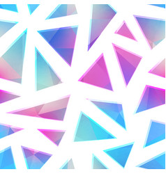 rystal triangles seamless pattern vector image