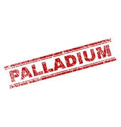 Scratched textured palladium stamp seal vector