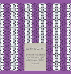 Seamless geometric art pattern vector image