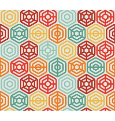Seamless pattern with hexagons vector