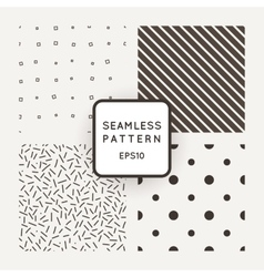 Set of seamless patterns of points lines vector