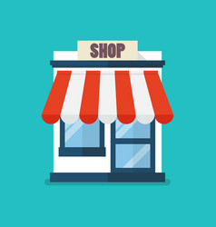 Shop store flat icon vector