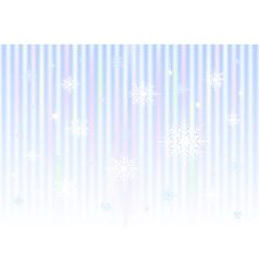 Snowflakes on striped gradient mesh background vector image