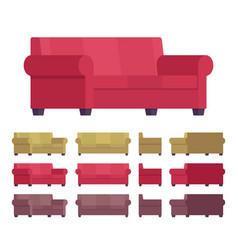 sofa furniture set vector image