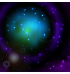 Space sky background with stars and lights vector image