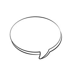speech bubble doodle vector image