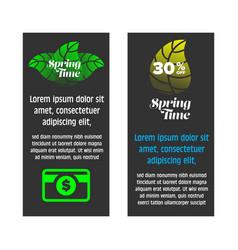 Springtime sale banner set vector