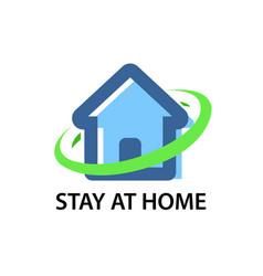 Stay at home - corona virus quarantine vector