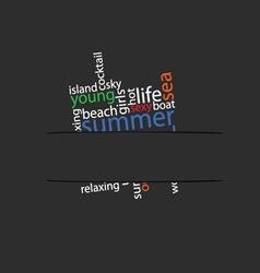 summer word in pocket vector image