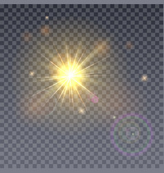 Sun aperture isolated on transparent vector