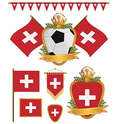 switzerland flags vector image vector image