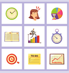 time management and daily plans vector image
