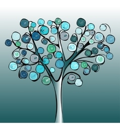 Tree colorful abstract background vector