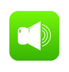 volume up icon green vector image