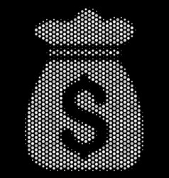 White dot money bag icon vector