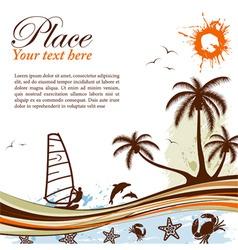 wind-surf grunge summer background vector image