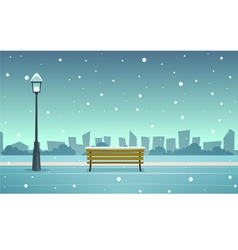 Winter City Park vector image